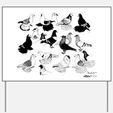 Saxon Color Pigeons Yard Sign