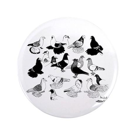 """Saxon Color Pigeons 3.5"""" Button"""