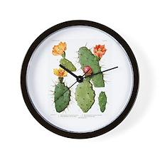 Blooming Cacti #1 Wall Clock