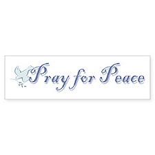 Pray for Peace Bumper Bumper Bumper Sticker