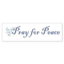 Pray for Peace Bumper Bumper Sticker