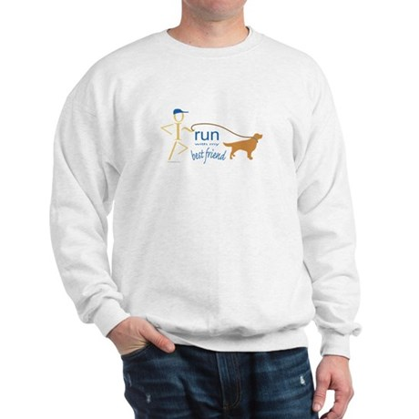 Run with dog Sweatshirt