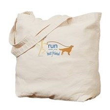 Run with dog Tote Bag