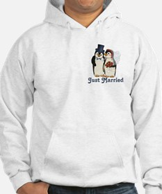 Penguin Wedding - Just Married Jumper Hoody