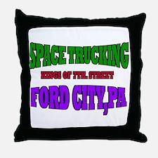 SPACE TRUCKING Throw Pillow