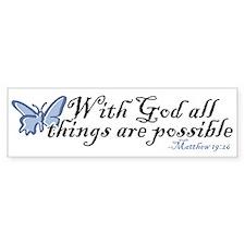 Matthew 19:26 Bumper Bumper Sticker