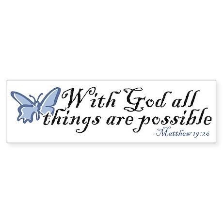 Matthew 19:26 Sticker (Bumper)