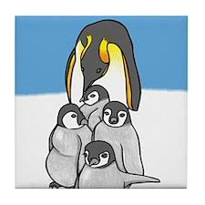 Emperor Penguins Tile Coaster