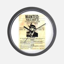 Wanted Al Capone Wall Clock