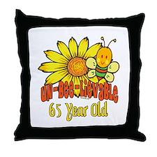 Un-Bee-Lievable 65th Throw Pillow