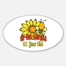 Un-Bee-Lievable 65th Oval Decal