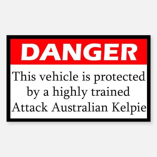 Attack Australian Kelpie Decal