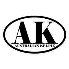 AK Abbreviation Australian Kelpie Decal