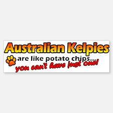 Potato Chips Australian Kelpie Bumper Bumper Bumper Sticker