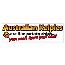 Potato Chips Australian Kelpie Bumper Bumper Sticker