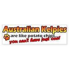 Potato Chips Australian Kelpie Bumper Car Sticker