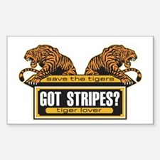 Got Stripes Tiger Rectangle Decal