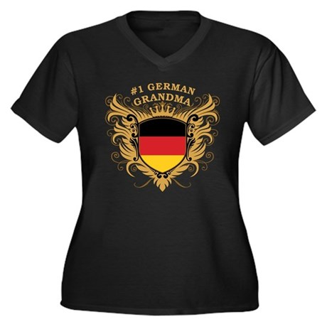 Number One German Grandma Women's Plus Size V-Neck