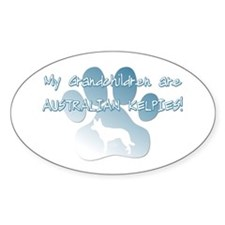Australian Kelpie Grandchildren Oval Decal