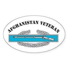CIB Afghanistan Veteran Oval Decal