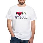 PIT BULL'S ROCK White T-Shirt