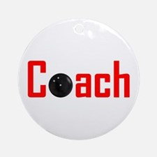 Bowling Coach Red Ornament (Round)