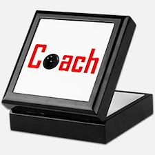 Bowling Coach Red Keepsake Box