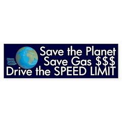 Drive the Speed Limit (bumper sticker)