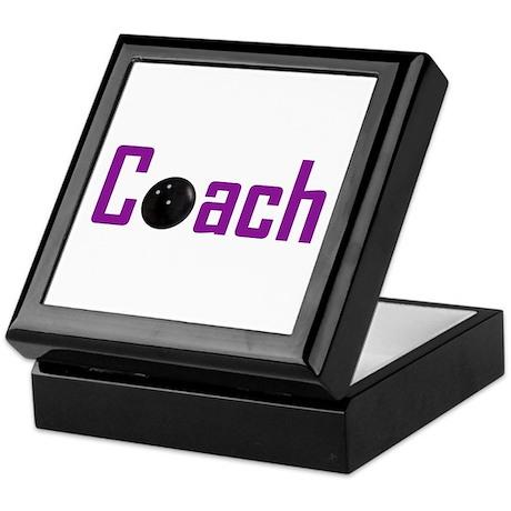 Bowling Coach Purple Keepsake Box