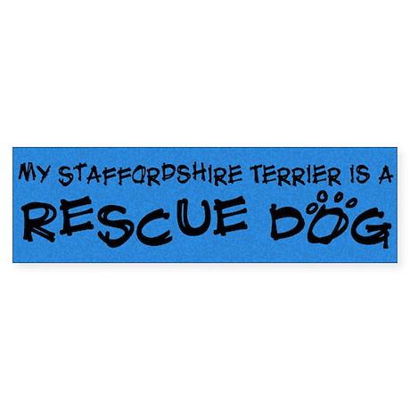 Rescue Dog Staffordshire Terrier Bumper Sticker
