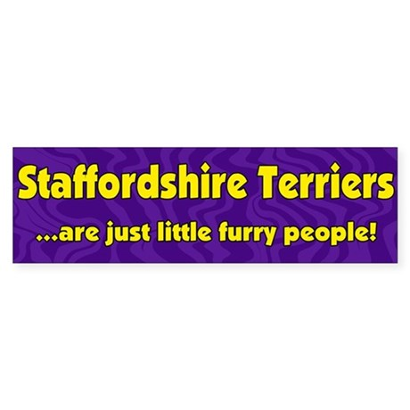 Furry People Staffordshire Terrier Bumper Sticker