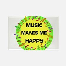 HAPPY MUSIC Rectangle Magnet