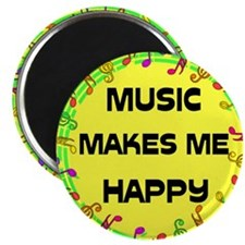 """HAPPY MUSIC 2.25"""" Magnet (10 pack)"""