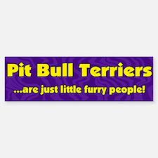 Furry People Pit Bull Bumper Bumper Bumper Sticker