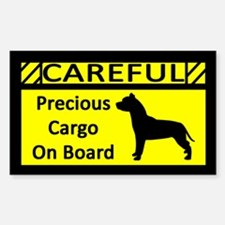 Precious Cargo Pit Bull Rectangle Decal
