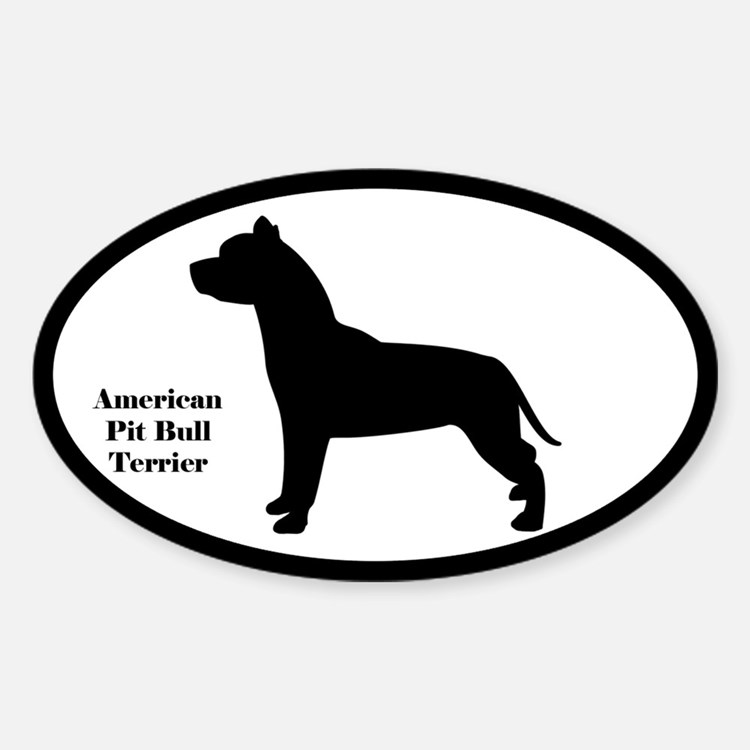 American Pit Bull Terrier Silhouette Decal