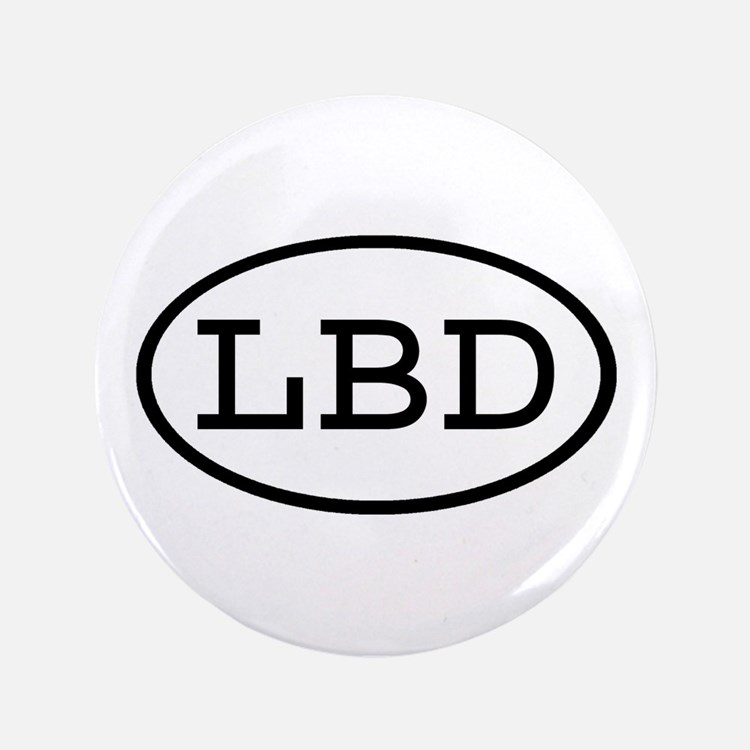 "LBD Oval 3.5"" Button"