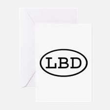 LBD Oval Greeting Cards (Pk of 10)