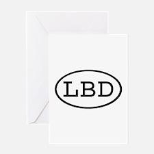 LBD Oval Greeting Card
