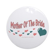 Mother Of The Bride (hearts) Ornament (Round)