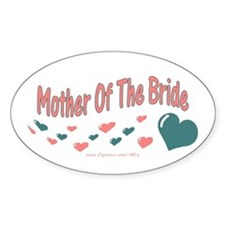 Mother Of The Bride (hearts) Oval Decal