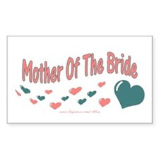 Mother Of The Bride (hearts) Rectangle Decal