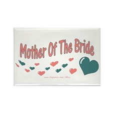 Mother Of The Bride (hearts) Rectangle Magnet