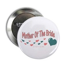 "Mother Of The Bride (hearts) 2.25"" Button"