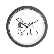 Cocker Spaniel Sketch Wall Clock