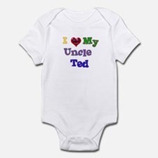 I LOVE MY UNCLE TED Infant Bodysuit