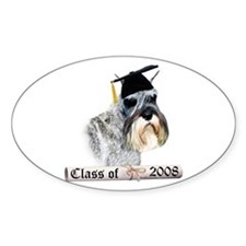 Std. Schnauzer Grad 08 Oval Decal
