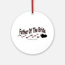 Father Of The Bride (hearts) Ornament (Round)