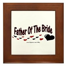 Father Of The Bride (hearts) Framed Tile