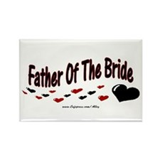 Father Of The Bride (hearts) Rectangle Magnet